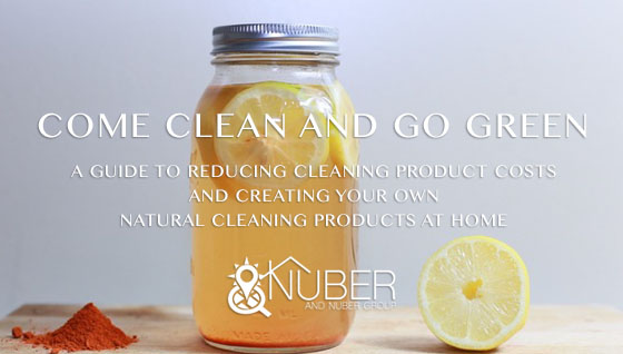 Come Clean and Go Green – A Guide to Reducing Cleaning Product Costs and Creating Your Own Natural Cleaning Products at Home