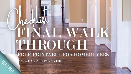 Final Walk-Through Checklist: FREE Printable for Homebuyers