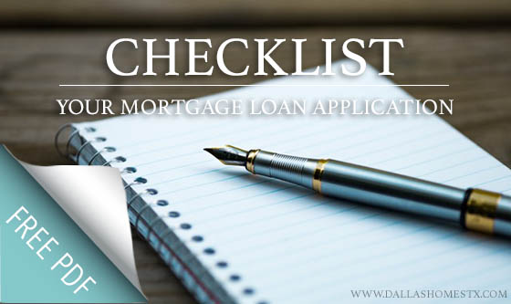 Checklist: Your Mortgage Loan Application