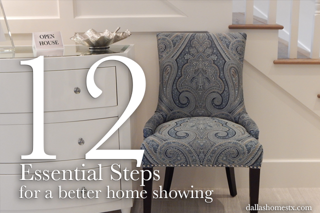 12 Essential Steps For a Better Home Showing